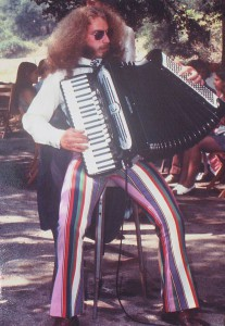 Jon Hammond Psychedelic Accordionist Jon Hammond Psychedelic Accordionist on Hammond World's First Psychedelic Accordionist performing at wedding in Topanga Canyon CA 1971, photo courtesy of Bob Fratti. Jon is playing custom Giulietti Classic 127 Accordion with Psychedelic Striped Pants Jon Hammond Psychedelic Accordionist on Hammond World's First Psychedelic Accordionist performing at wedding in Topanga Canyon CA 1971, photo courtesy of Bob Fratti. Jon is playing custom Giulietti Classic 127 Accordion with Psychedelic Striped Pants Jon Hammond Band! This is the place for all Hammond Organ people, Accordion Squeezers and fans of the Swingin' Funky Music of Jon Hammond Band. All the latest news, cool links and information about where to catch the band live and on TV. The Jon Hammond Radio Show Podcast Hammond Cast has been launched in Summer 2005 and is now available Podcast Alley, Pod Nova and many other sites. Thanks for visiting! Sincerely, Jon Hammond & Band